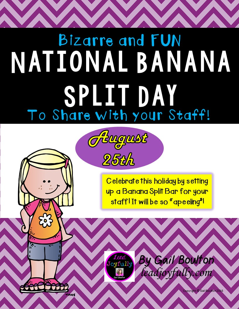National Banana Split Day (August 25th)