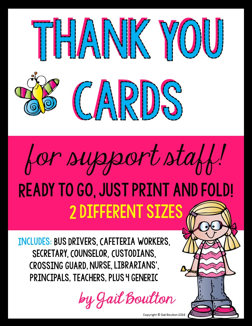 Thank You Cards for Support Staff