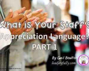 What is Your Staff's Appreciation Language? Part 1