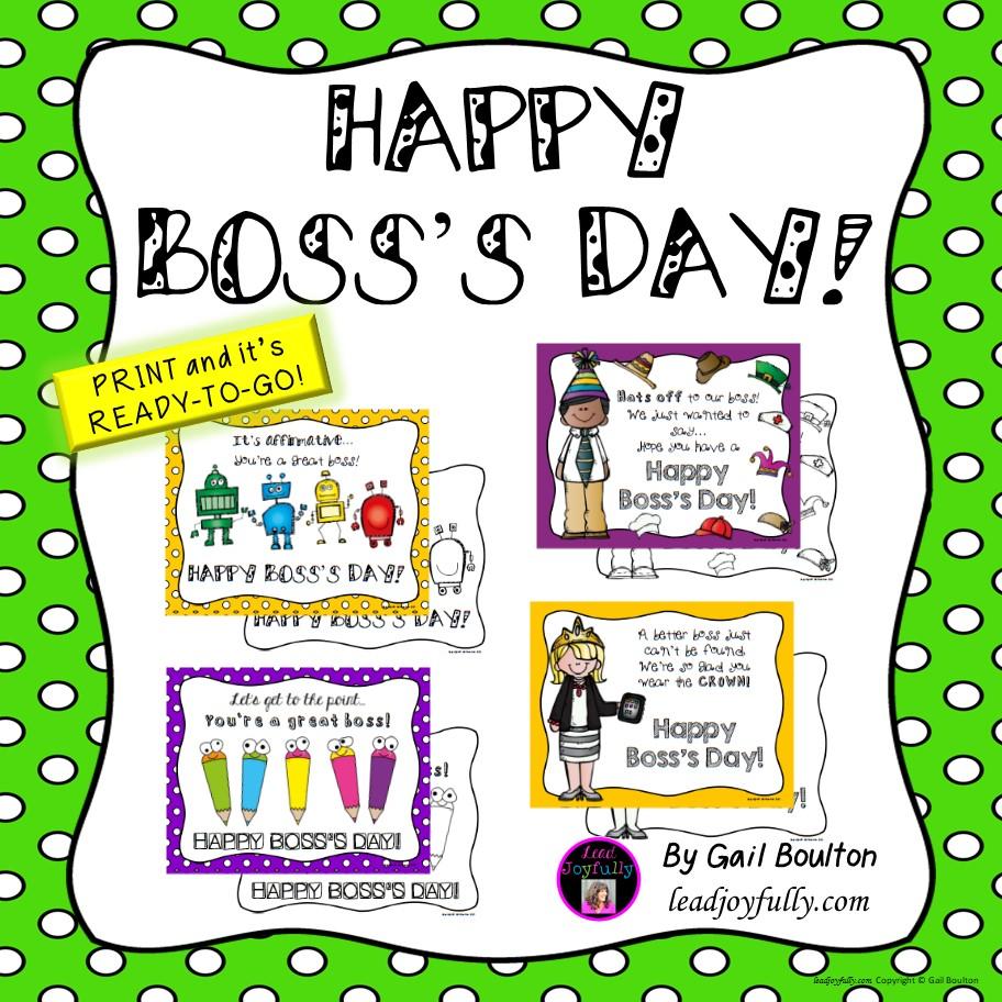 Happy Boss's Day! (October 16, 2018