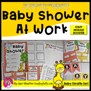 d782cf308dd JOYFUL DAYZ Baby Shower At Work (Baby Giraffe Set)