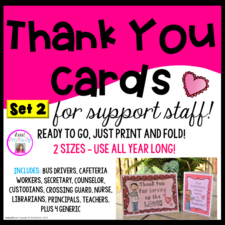 graphic regarding Bus Driver Thank You Card Printable known as Thank Your self Playing cards for Assist Employees (Center concept)- Established 2